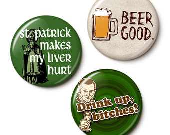 Big Drinker Button/Magnet Set