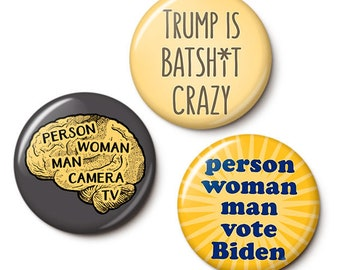 Trump's Brain Button/Magnet Set