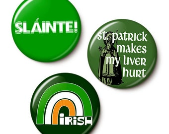 Irish Green Button/Magnet Set