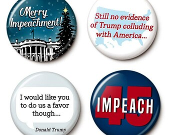 Holiday Impeachment Button/Magnet Set
