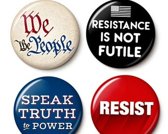 We The Resistance Button/Magnet Set