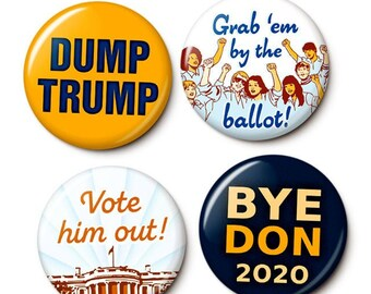 Vote Trump Out Button/Magnet Set