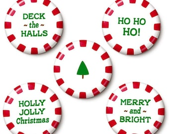Christmas Candy Button/Magnet Set