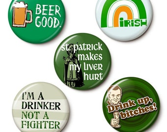 St. Patrick's Day Super Pack Button/Magnet Set