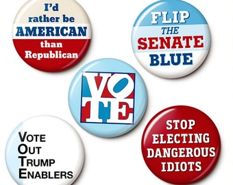 Blue Wave Election Button/Magnet Set