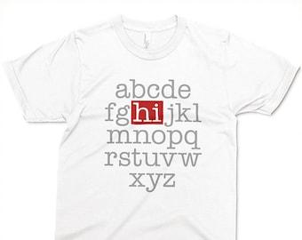 Alphabet Hi T-shirt