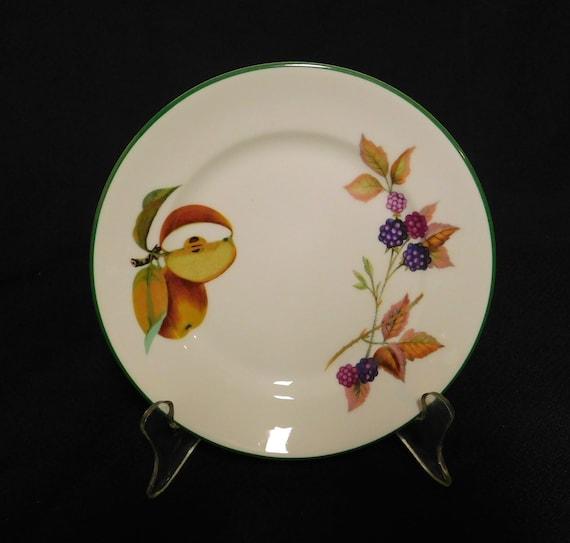 "Porcelain Royal Worcester Evesham Gold Bread Plate 6 5//8/""D Made in ENGLAND"