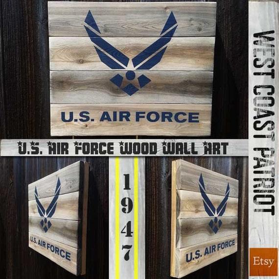 Us Air Force Symbol Wood Wall Art Etsy