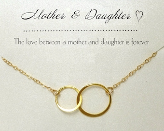 Mother Daughter Necklace Set From Daughter To Mom Jewelry