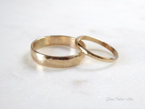 Couples Ring Set 14k Gold Fill Promise Rings For Couples Etsy