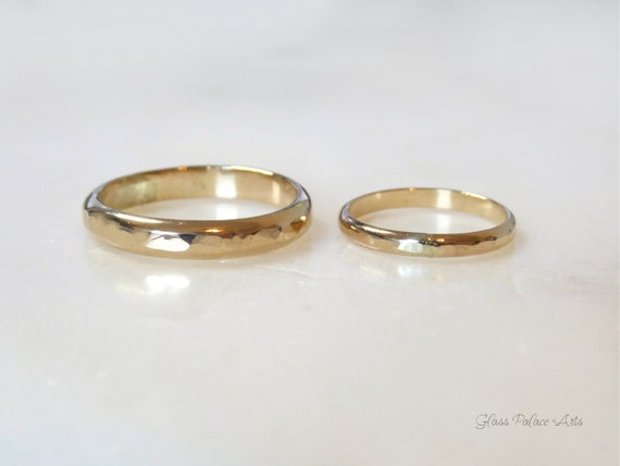 Matching Wedding Bands His And Hers 14k Gold Fill Promise Etsy