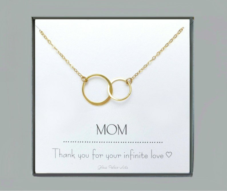 Infinity Necklace For Mom From Daughter Push Present For Mom image 0