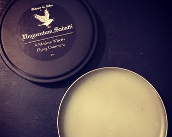 WITCHES FLYING OINTMENT~Unguentum Sabatti~Witch, Occult, Magick, Intuition, Scrying, Divination, Clairvoyance, Witchcraft supply, handmade