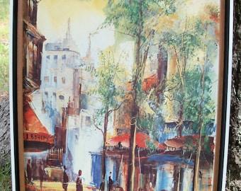 Wall Art Parisan Cityscape Dubois Paris '74 Modernist Impressionist Bold & Soft