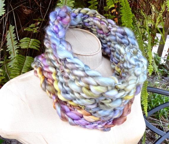 cba195368d50d Verger Col écharpe Ultra Boho Luxe crochet mérinos Tencel de   Etsy