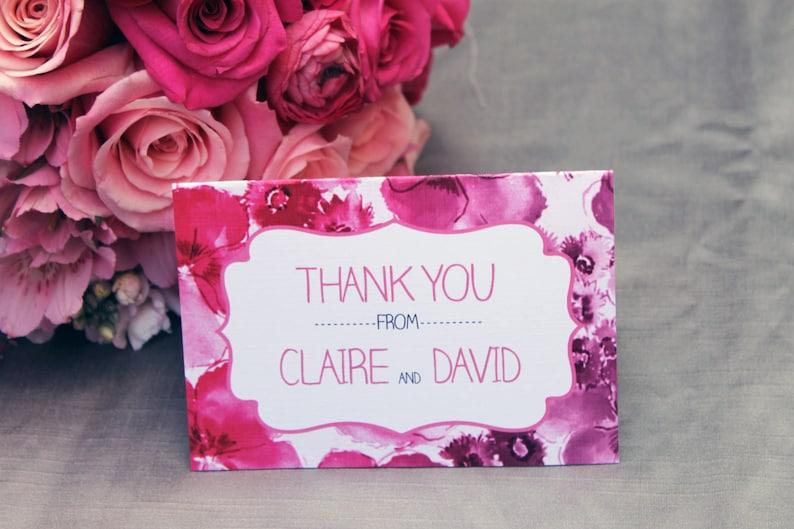 Floral Ombre Thank You Card DCo Lovenotes
