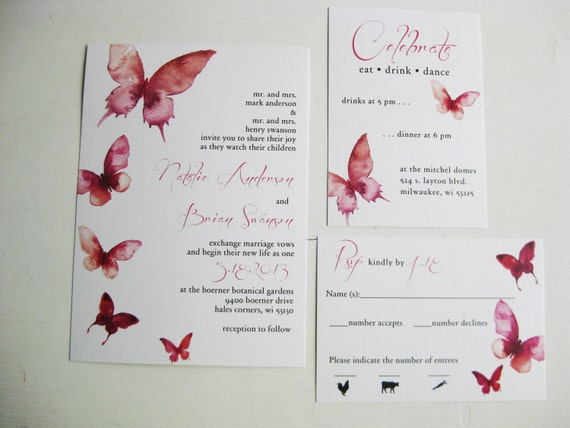 Tropical Leaves Destination Wedding Save the Date DCo Lovenotes
