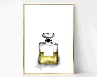 Parfum Bottle Perfume INSTANT DOWNLOAD Printable