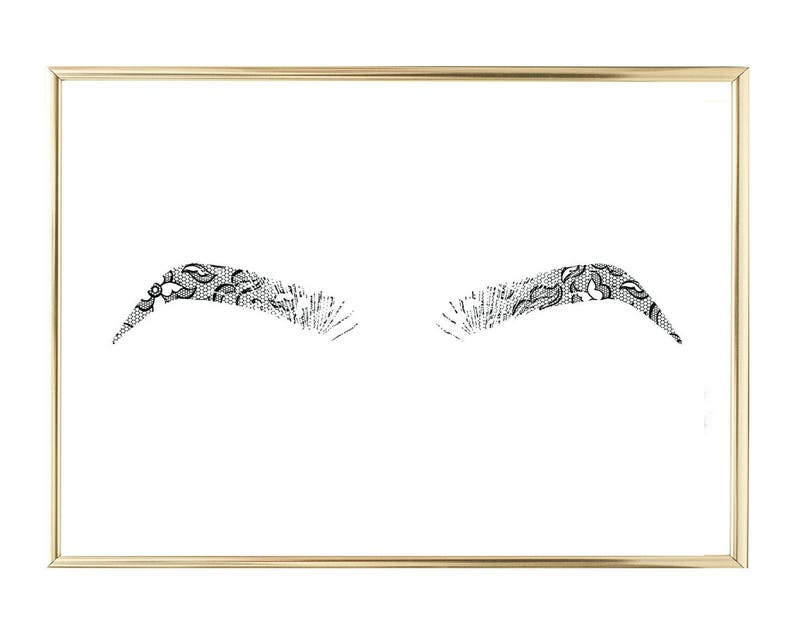 image about Printable Eye Brow Stencils named Lace Eyebrow Printable Brows Fast Down load Marriage Decor Invitations