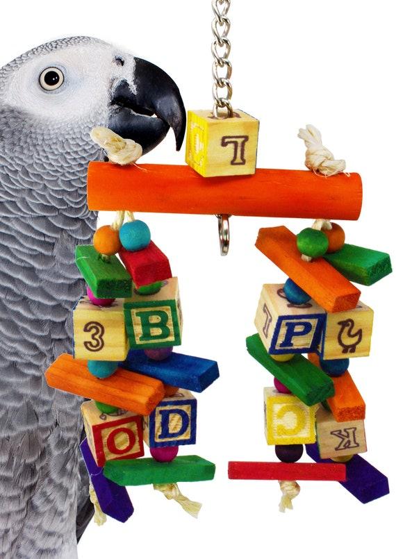 1723 Bonka Bird Toys Four Corners parrot cage toys cockatiel african grey forage