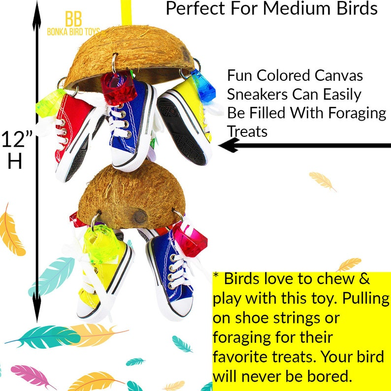 1782 Duo Coco Sneaker Bird Toy