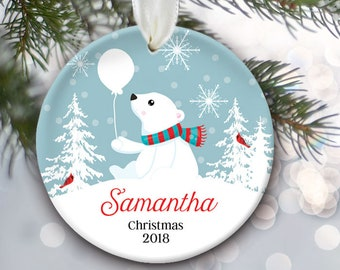 baby bear ornament kids ornament bear ornament personalized christmas ornament polar bear ornament matches family ornament in shop or944 - Polar Bear Christmas Decorations