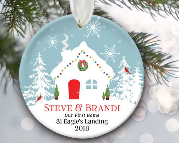 Our First Home Christmas Ornament.Our First Home Ornament Personalized Housewarming Gift Our New Home Ornament My First Home Christmas Ornament Festive Home Ornament Or972