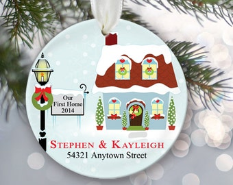 Our First Home Personalized Christmas Ornament Housewarming Gift New Home Our First House Personalized 1st Home Newlywed Ornament OR268