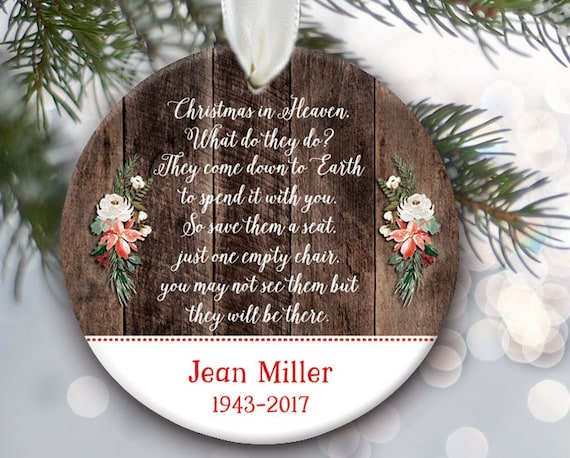 Christmas In Heaven What Do They Do.Memorial Christmas Ornament Christmas In Heaven What Do They Do Memorial Gift Remembrance Gift Wood Ornaments Personalized Or138