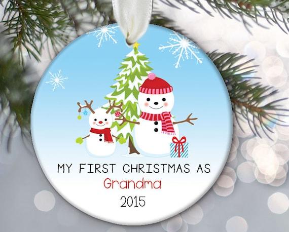 grandma ornament my first christmas as grandma personalized