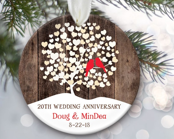Christmas Ornament Wedding Gift: Personalized Christmas Ornament For Wedding Anniversary