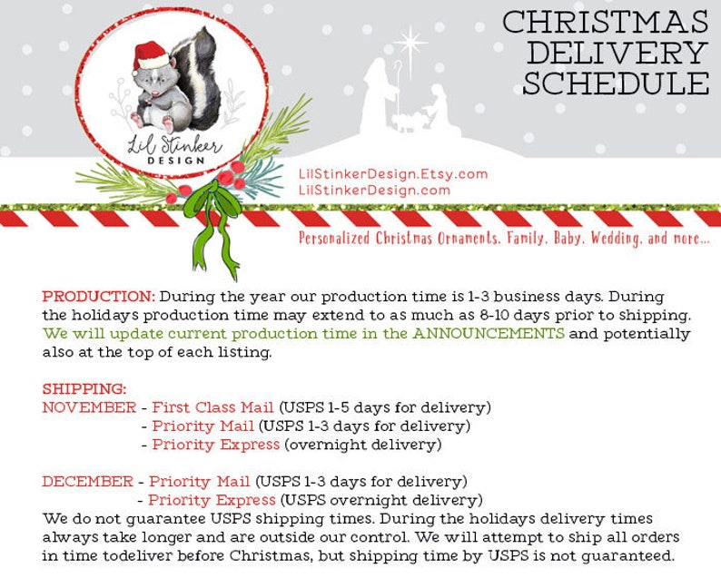 Polar Bear Christmas Ornament Personalized Christmas Ornament Name /& Date Gift for her Gift for him Custom Holiday Ornament OR110