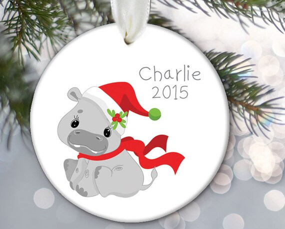 Hippo Christmas Ornament.Hippo Christmas Ornament Personalized Kids Christmas Ornament Kids Gift Gift For Boys And Girls Name Date Jungle Animal Ornament Or680