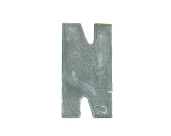 """7 1/2"""" Vintage Metal Letter N - Marquee Signage - Letter Sign - Monogram Initial - Silver Letters"""