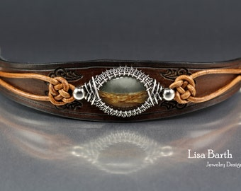 Leather and Woven Wire Bracelet Tutorial