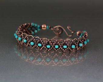 Copper Woven Bracelet Tutorial