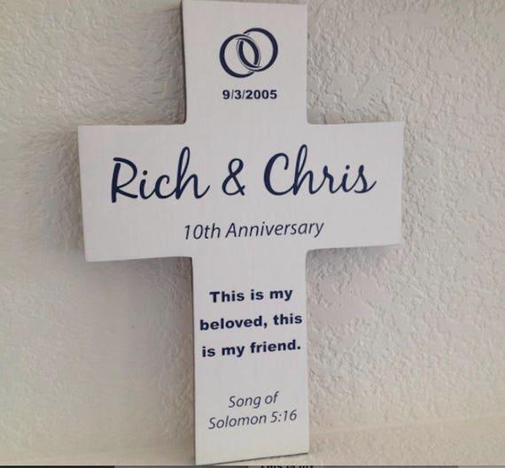 Anniversary Gift Wedding Wall Cross 2nd 5th 10th 15th Etsy