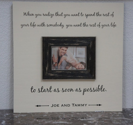 Wedding Frame Love Quote Spending Your Life Personalized Etsy Cool Love Quote Picture Frames