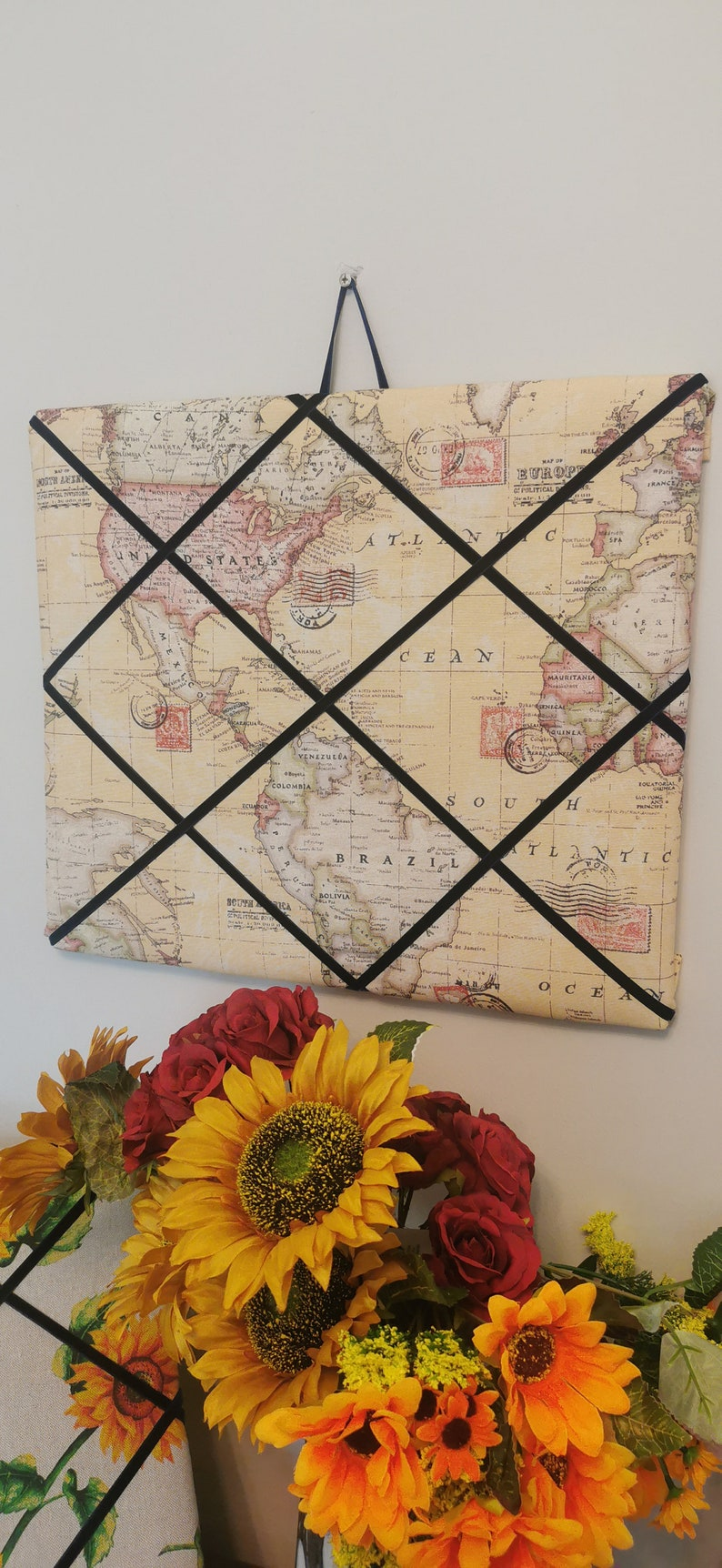 World map memory boards /_ sunflower /_ deers stags /_ farmhouse rustic /_ Christmas gifts/_ Christmas cards/_ photos