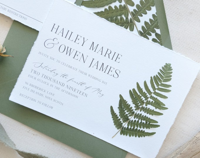 Pressed Flower Invites