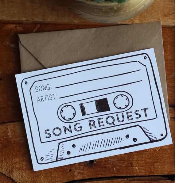 Song Request Invitation Insert Card  Printable Cassette Tape Song Request Card  Wedding Invitation Insert Template  Download  Rustic