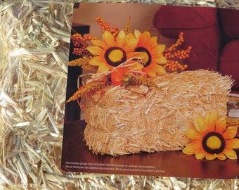 Medium straw bales,6 inch X 5 inch X 13 inch,fall crafts,gardening,bedding straw,rustic,country western,ranch,wedding,Centerpiece,Harvest