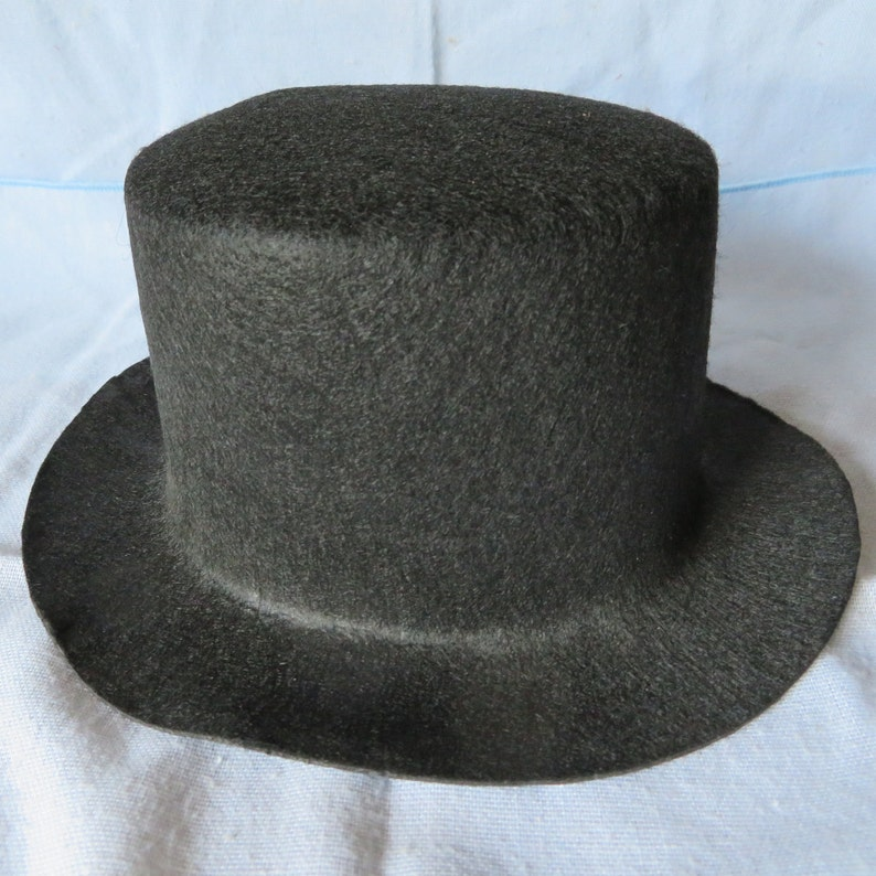 19895a0b7cf Felt top hat8 inch x 3 inchoval.snowman hatstiffened