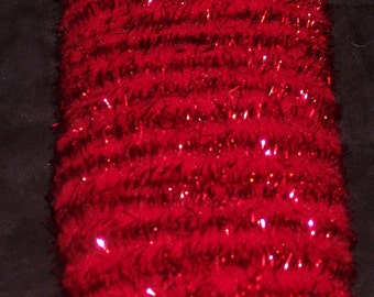 Red Wireless chenille stem,mini garland,10 yds/pkg,12MM wide,shiny tinsel,Christmas crafts, holiday crafts,ornaments
