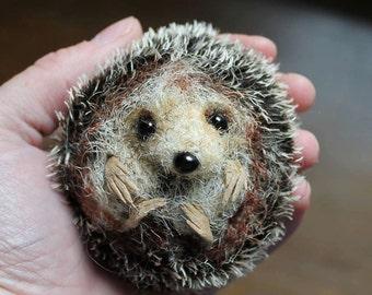 Hedgehog - Pdf sewing pattern/ needle felting tutorial