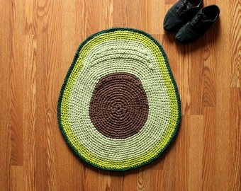 Handmade Avocado Rug - Ready to Ship