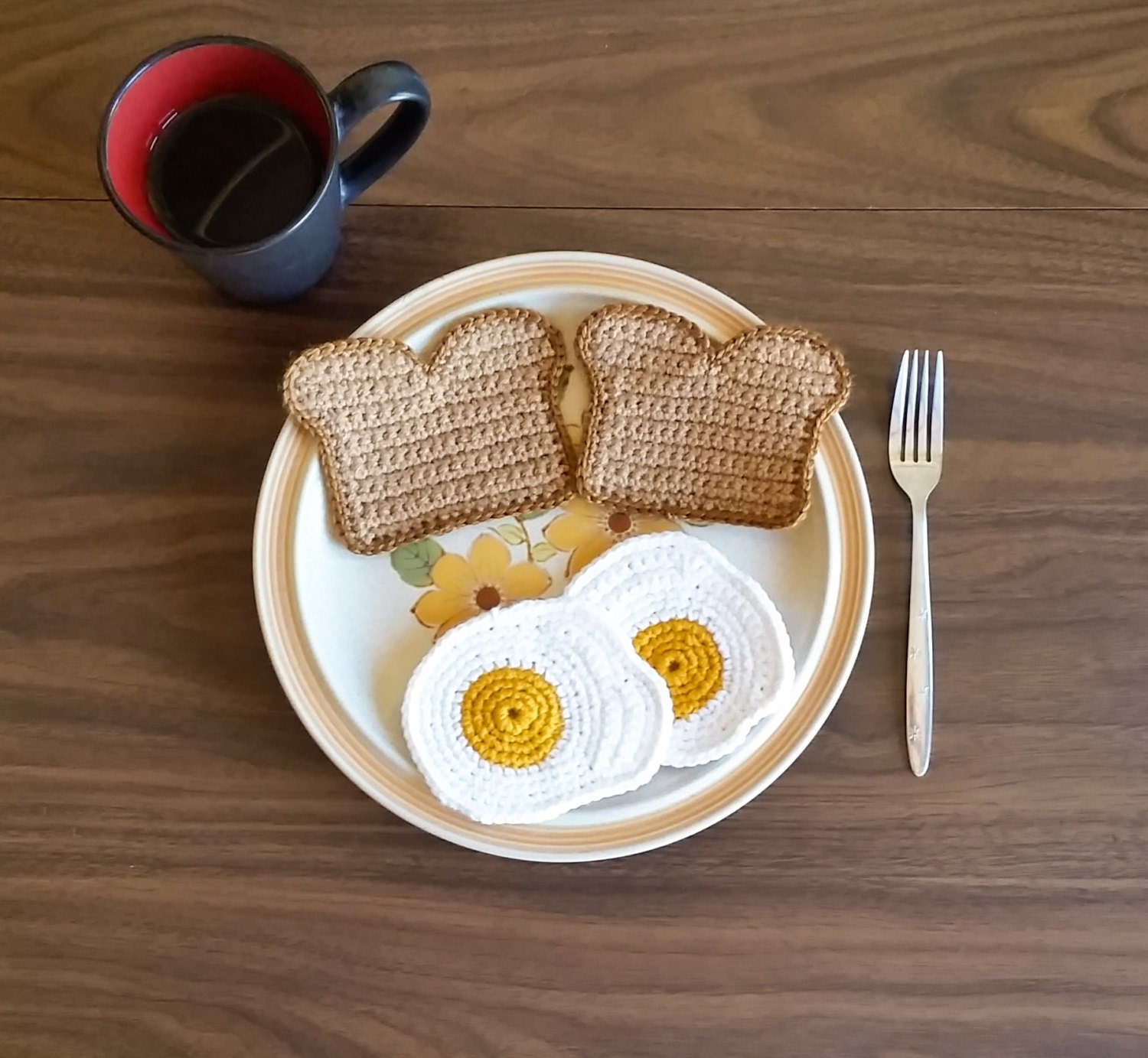 Toast and Egg Coaster Set