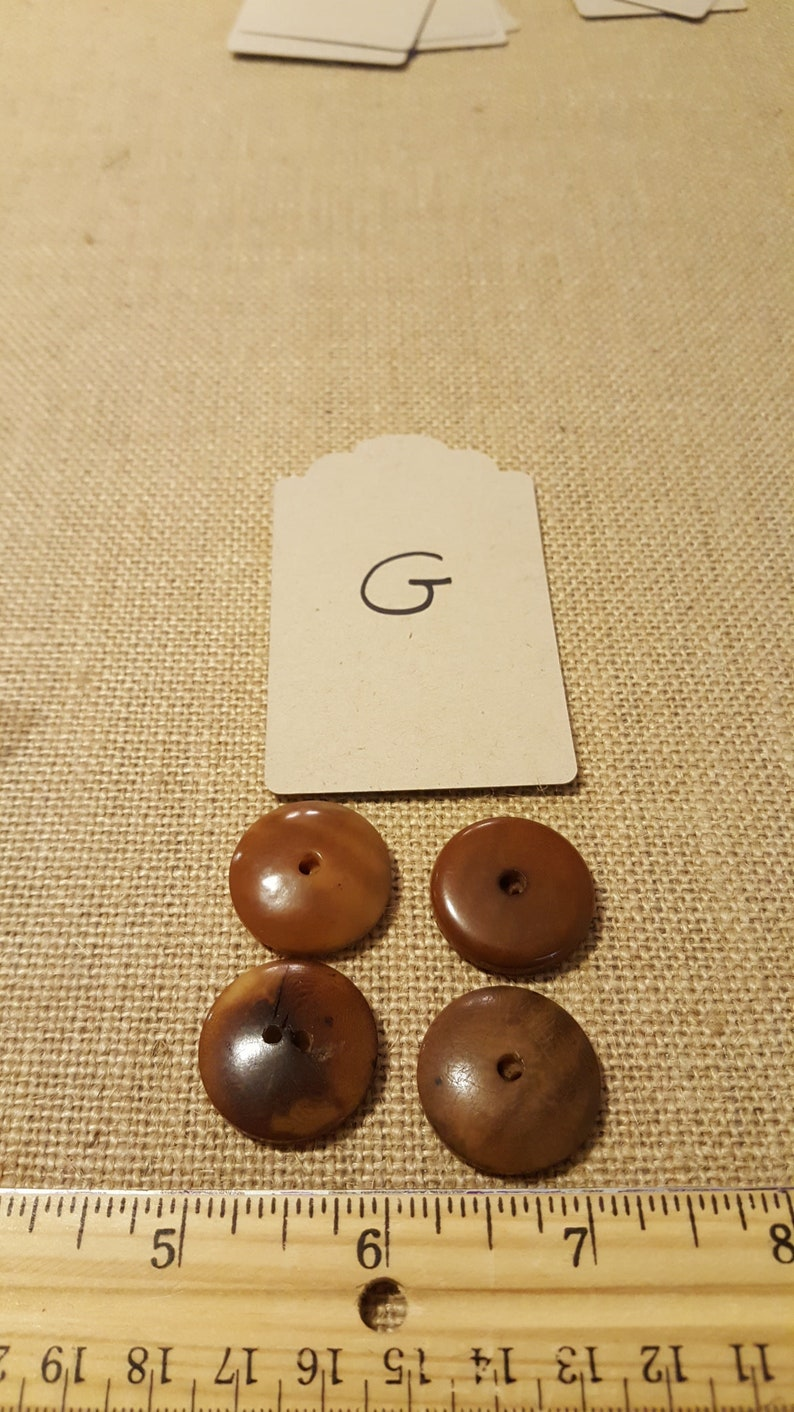 Vegetable ivory buttons tagua nut wood look