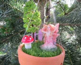 Fairy Garden Wind Chime - Miniature Fairy Garden Hanging Wind Chime - Highly Detailed