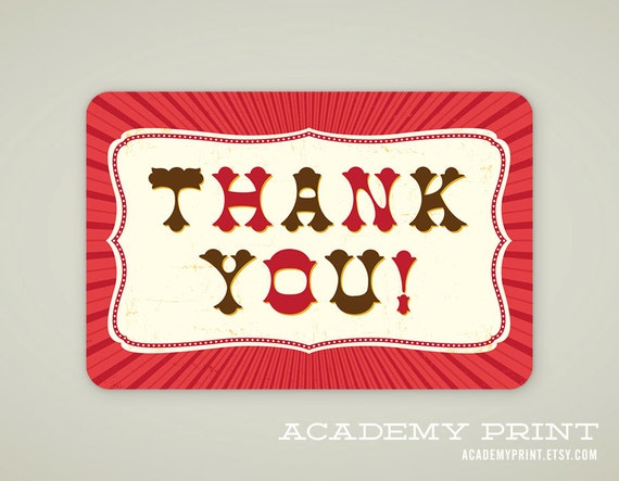 Thank You Gift Tag Printable Tags Instant Download